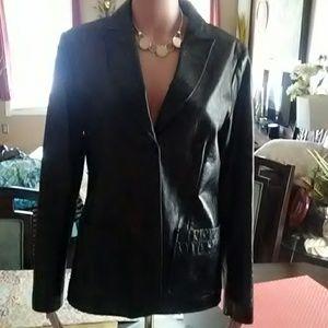 Women's Gap 100% genuine leather jacket size M